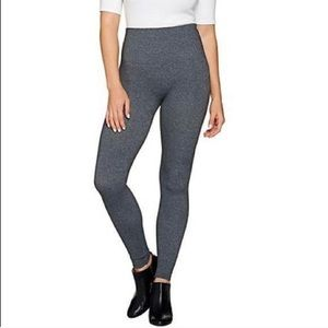 Spanx Look at Me Now Seamless Leggings Gray 1X